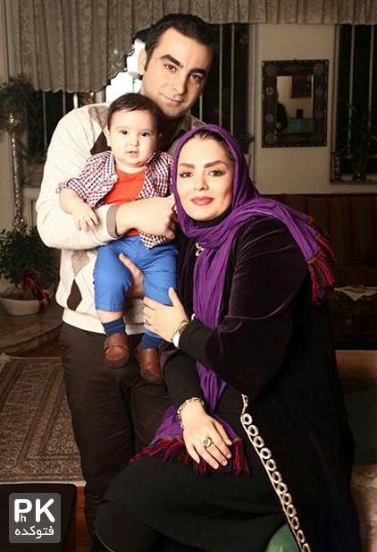 عکس جدید سپیده خداوردی و همسرش و پسرنش سانیار