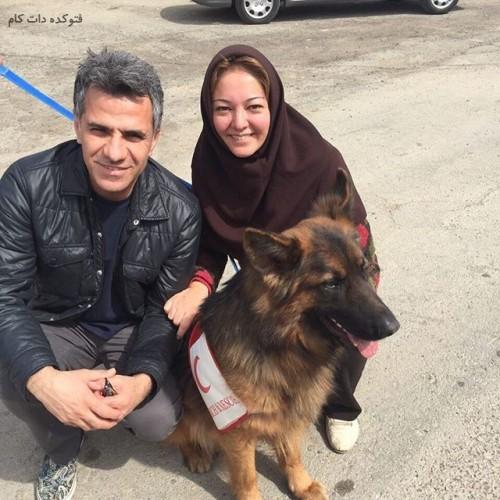 عکس رزیتا غفاری و همسرش عباس صالحی