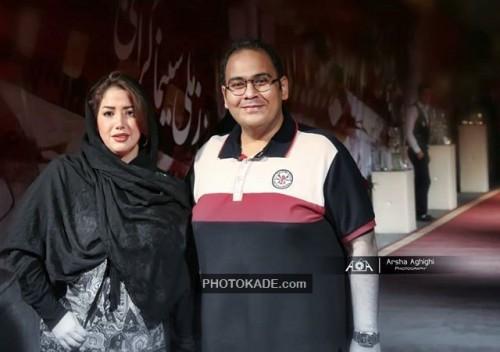 عکس جدید رضا داوود نژاد و همسرش غزال بدیعی