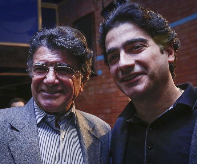 عکس همایون شجریان و پدرش استاد محمدرضا شجریان