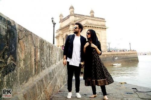 بنیامین بهادری با همسرش در سلام بمبئی,همبازی شدن بنامین بهادری و همسرش در فیلم سلام بمبئی,بازیگر شدن شایلی همسر بنیامین بهادری خواننده,بمب خبری همسر بنیامین