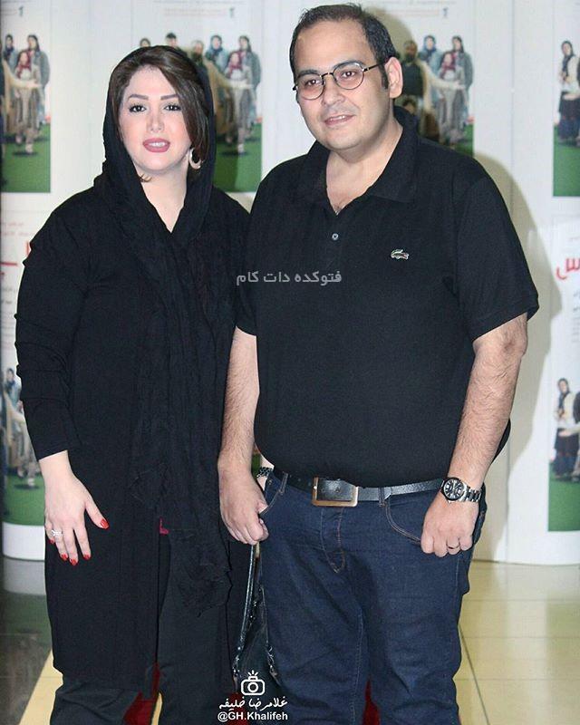 رضا داوود نژاد و همسرش غزل بدیعی