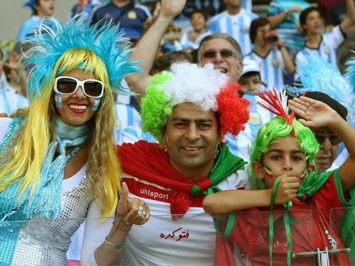 عکس تماشاگران ایرانی جام جهانی