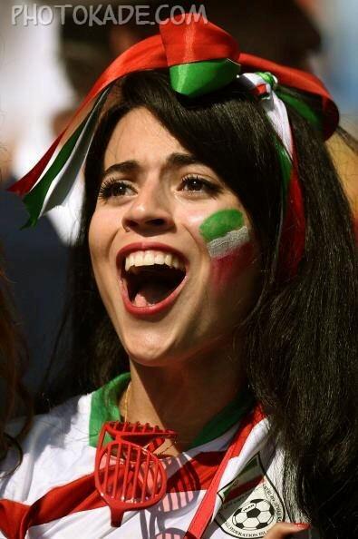 عکس تماشاگران دختر ایرانی 2014,عکس تماشاگران ایرانی جام جهانی