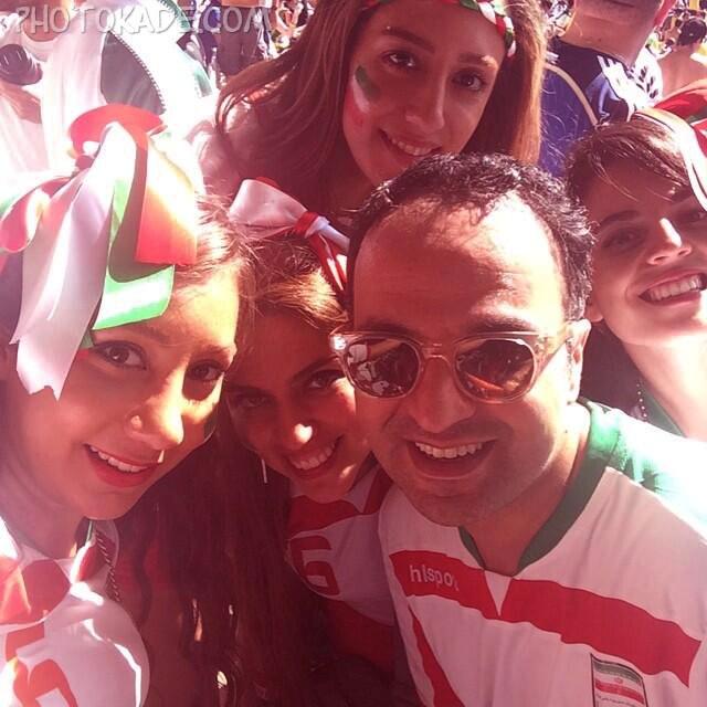 عکس تماشاگران دختر ایرانی 2014,عکس تماشاگران ایرانی جام جهانی,عکس تماشاگران جام جهانی 2014,عکس تماشاگران زن ایرانی 2014