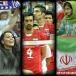 تماشاگران والیبال ایران و فرانسه