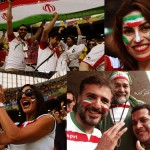 عکس تماشاگران ایرانی جام جهانی 2014
