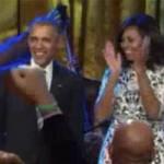 فیلم خوانندگی اوباما در مهمانی شبانه