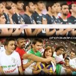 عکس بازی والیبال ایران و صربستان