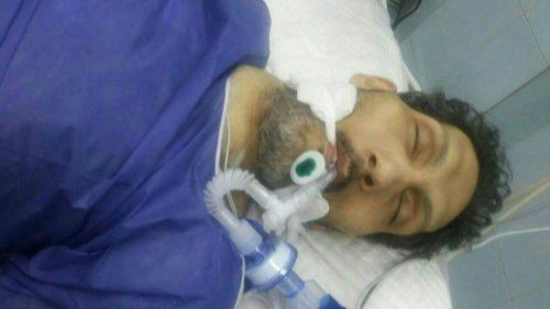 ایرج خدری در بیمارستان