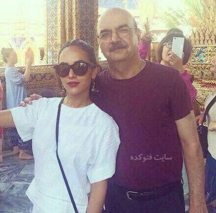 عکس ایرج طهماسب و دخترش در خارج از کشور