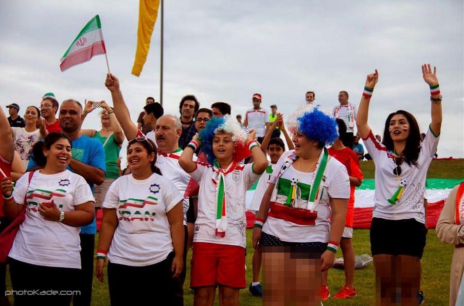 عکس تماشاگران ایرانی در استرالیا جام ملت های اسیا 2015,عکس تماشاگر زن تیم ملی,تماشاگران دختر ایرانی در استرالیا,تماشاگران تیم ملی در جام ملت های آسیا 2015
