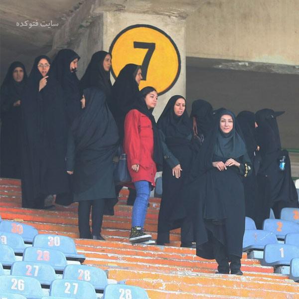 عکس پلیس های زن در استادیوم آزادی