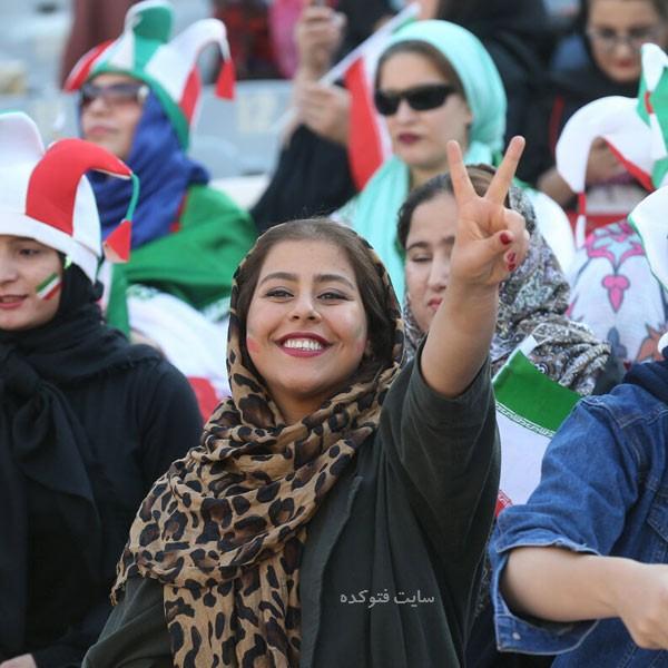 عکس تماشاگران ایران و کامبوج