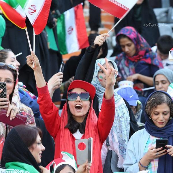 تصاویر لو رفته دختران از استادیوم آزادی