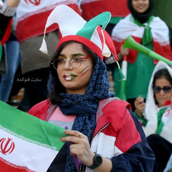 تماشاگران زن بازی ایران کامبوج