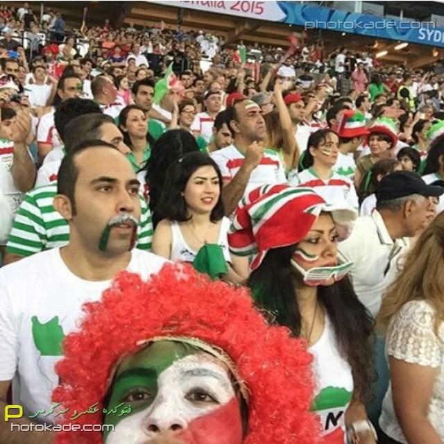 تماشاگران بازی ایران و قطر جام ملتهای آسیا 2015,تماشاگران زن بازی ایران و قطر 1393,u;s jlhah'vhk hdvhk , rxv,عکسای تماشاگران ایرانی در استرالیا 2015,بازی