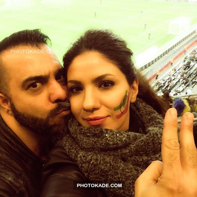 عکس تماشاگران بازی ایران و سوئد