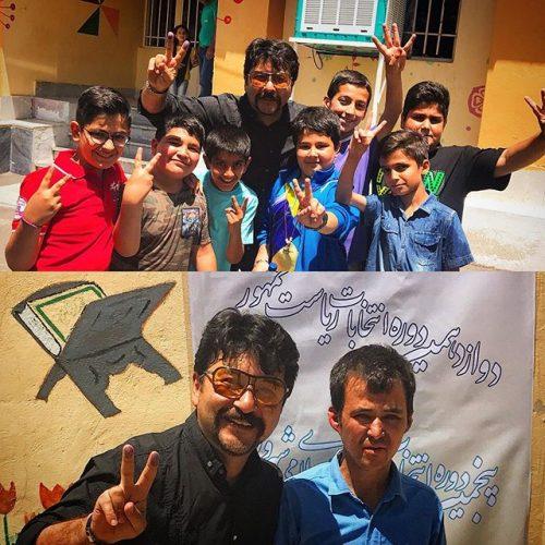 عکس امیرحسین صدیق و رای به حسن روحانی