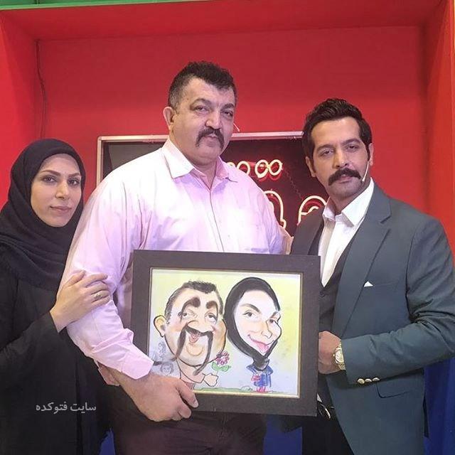 عکس احمد ایراندوست و همسرش در کنار کامران تفتی