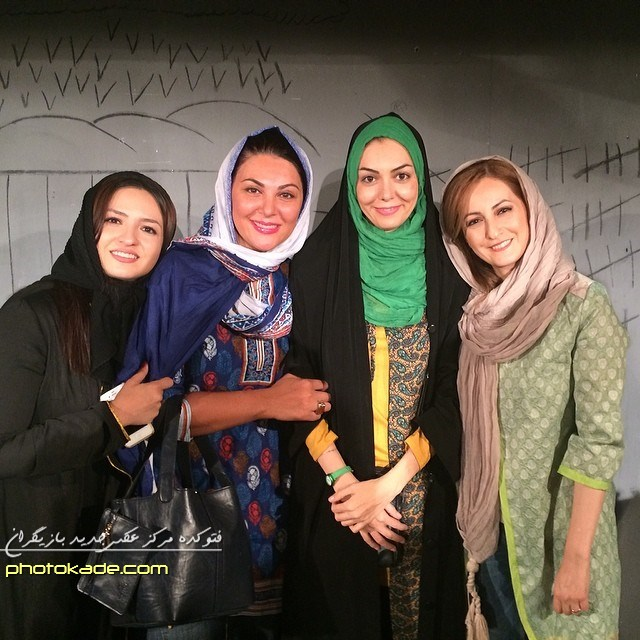 عکس شقلیق دهقان -  آزاده نامداری - لاله اسکندی - گلاره عباسی