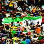 تماشاگران بازی والیبال دوم ایران و آمریکا