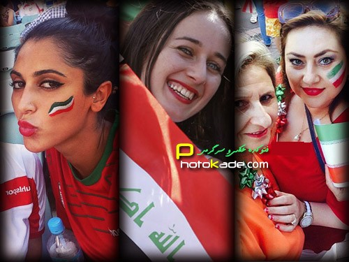عکس تماشاگران بازی ایران و عراق