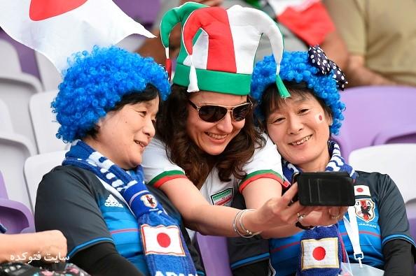 عکس تماشاگران ایران و ژاپن 2019
