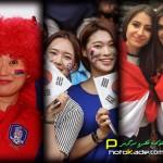 عکس تماشاگران بازی کره جنوبی و عراق