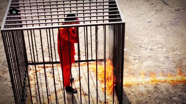 ویدیو اصلی سوزاندن خلبان توسط داعش,ویدیو بدون سانسور زنده سوزاندن خلبان اردنی توسط داعش,فیلم اصلی زنده سوزاندن خلبان اردن از داعش,فیلم زنده سوزاندن خلبان