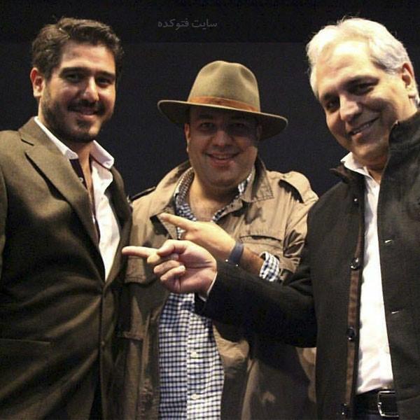 سهیل مستجابیان در کنار مهران مدیری و علی اوجی