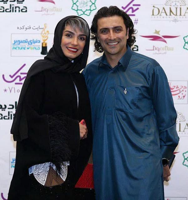 امین زندگانی و همسرش در عکس بازیگران جشن حافظ 98