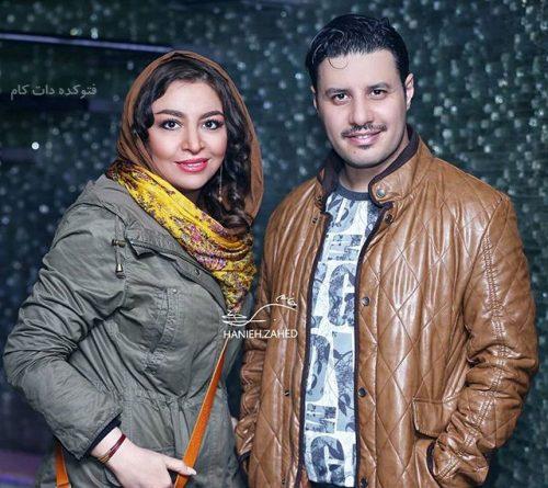 عس خفن جواد عزتی و همسرش مه لقا باقری
