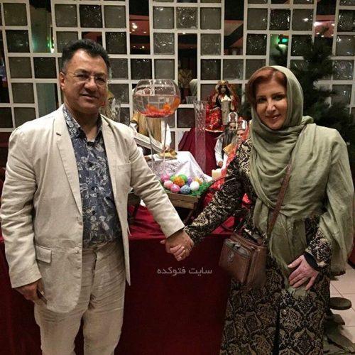 ژیلا امیرشاهی و همسرش جمال الدین طبسی نژاد