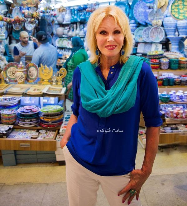 جوانا لاملی در ایران بدون حجاب
