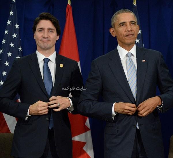 Justin Trudeau و باراک اوباما