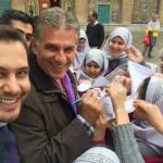 تهران گردی کیروش سرمربی تیم ملی
