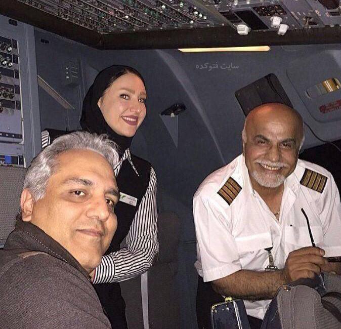 عکس مهران مدیری در کابین خلبان