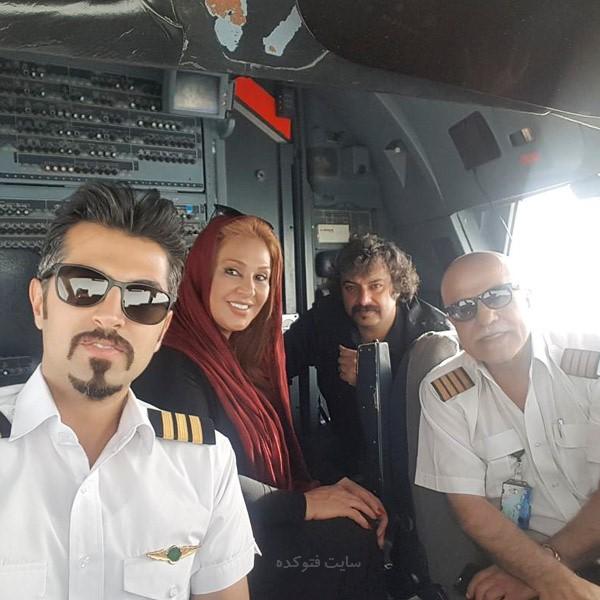 عکس نسرین مقانلو در کابین خلبان