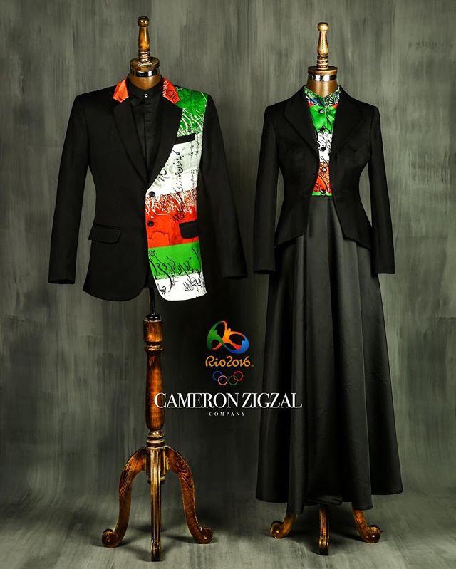 نمونه لباس های طراحی کامران بختیاری برای کاروان المپیک 2016