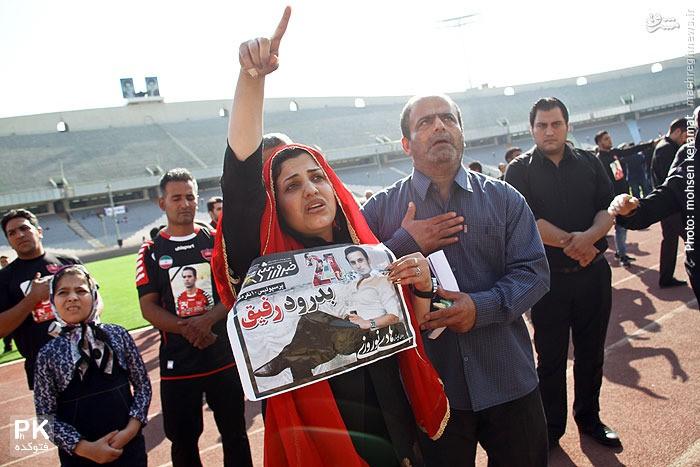 عکس همسر هادی نوروزی در مراسم تشییع جنازه