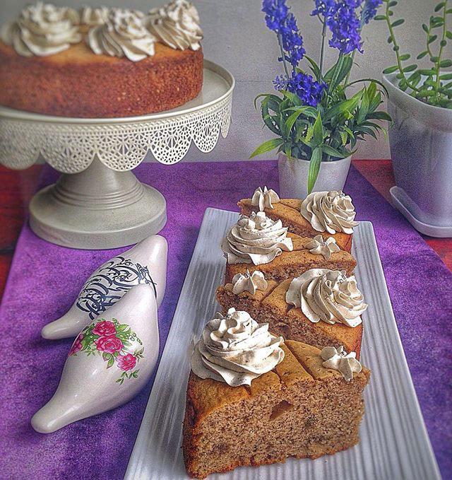 طرز تهیه کیک کاپوچینو خوشمزه و ساده با عکس