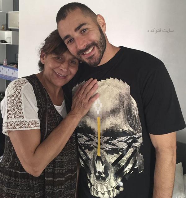 عکس هایکریم بنزما و مادرش + بیوگرافی کامل