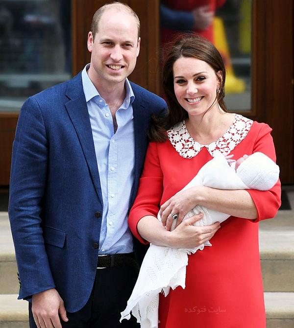 عکس کیت میدلتون و همسرش شاهزاده ویلیام + فرزند سوم
