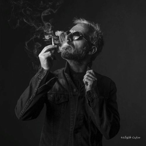 سیگار کشیدن کاظم سیاحی