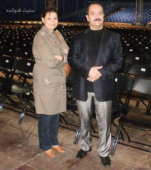 کیوان ساکت و همسرش
