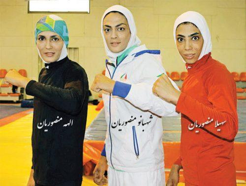 عکس خواهران افسانه ای منصوریان الهه شهبانو و سهیلا منصوریان + بیوگرافی