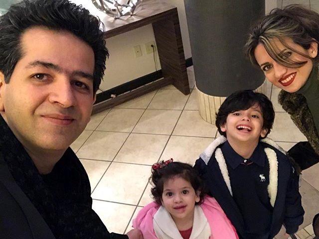 عکس حمید طالب زاده و همسر خارجی اش !