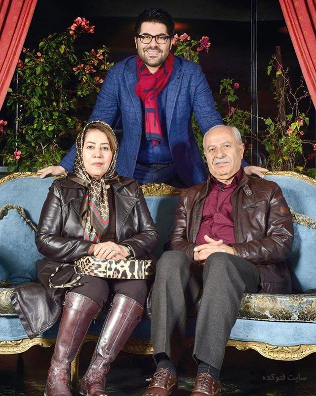عکس حامد همایون در کنار پدر و مادرش