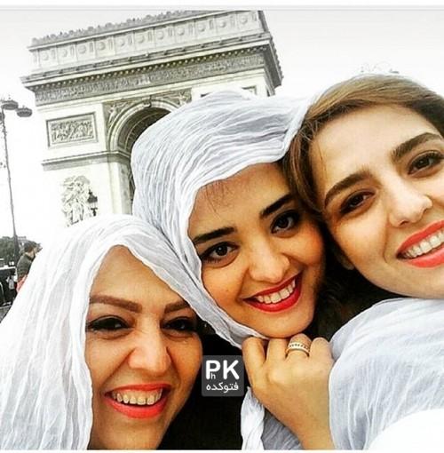 عکس نرگس محمدی در کنار خواهر و مادرش